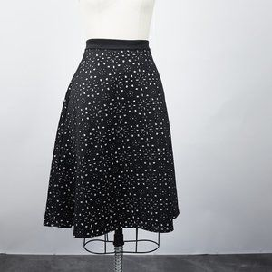 Catherine Malandrino Laser Cut Fit and Flare Skirt